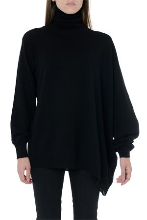 BLACK WOOL AND CASHMERE TURTLENECK KNIT JUMPER FW 2019