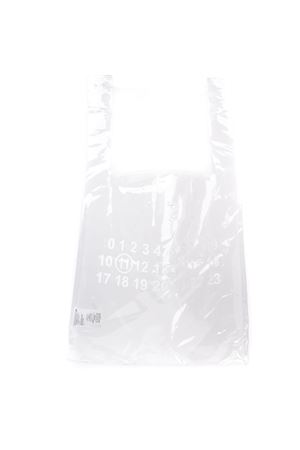 NUMBER PRINT WHITE PVC TOTE BAG FW 2019 MAISON MARGIELA | 2 | S55WC0063PS386H7371