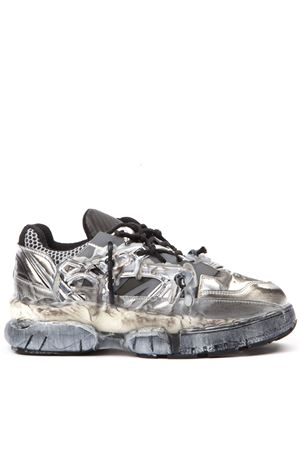 GREY LEATHER FUSION SNEAKERS FW 2019 MAISON MARGIELA   55   S57WS0257P2867H2745