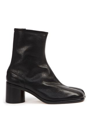 BLACK TABI LEATHER ANKLE BOOTS FW 2019 MAISON MARGIELA | 52 | S57WU0132P2696T8013