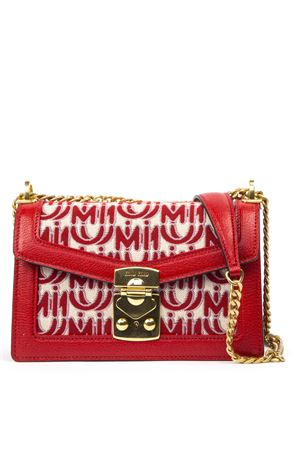 COTTON AND LEATHER RED AND IVORY SHOULDER BAG FW 2019 MIU MIU | 2 | 5BD0832CAGF0ZFB