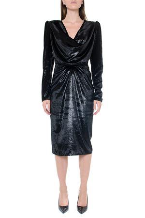 GREY VELVET DRESS FW 2019 RHEA COSTA | 32 | 1920053UNIBLACK