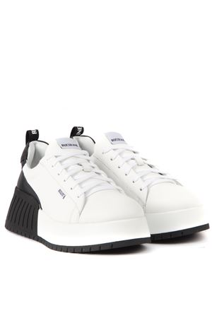 WHITE AND SILVER LEATHER NOIL CHIC SNEAKERS FW 2019 RUCOLINE | 55 | 393NOIL CHICWHITE/BLACK