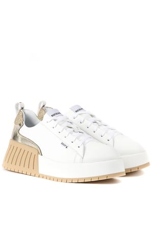 WHITE AND GOLD LEATHER NOIL CHIC SNEAKERS FW 2019 RUCOLINE | 55 | 393NOIL CHICWHITE/GOLD