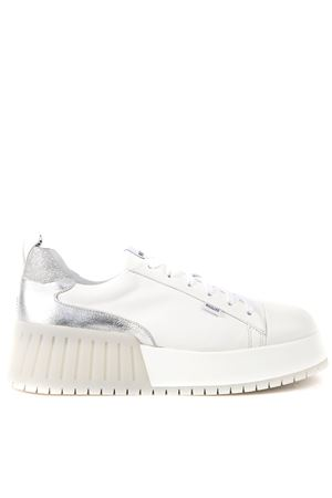 WHITE AND SILVER LEATHER NOIL CHIC SNEAKERS FW 2019 RUCOLINE | 55 | 393NOIL CHICWHITE SILVER