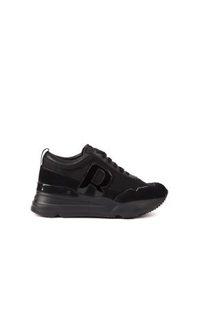 BLACK ULTRA NAYCER LEATHER SNEAKER FW 2019 RUCOLINE | 55 | 4041ULTRA NAYCERNERO