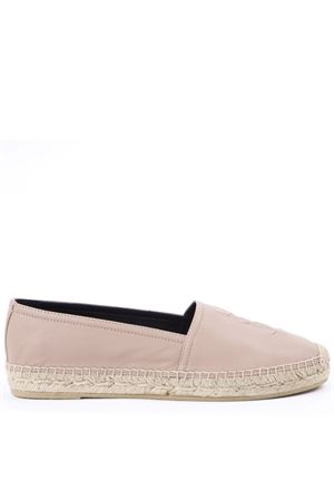 NUDE LEATHER ESPADRILLES WITH EMBOSSED LOGO SS 2019 SAINT LAURENT | 144 | 4585730RR009935