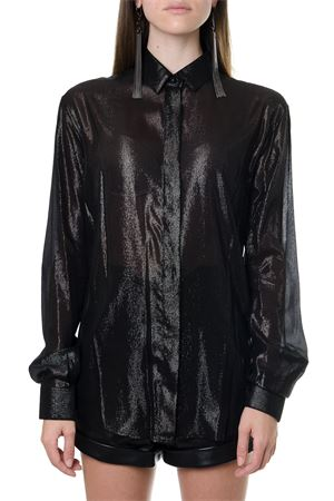 LAMINATED BLACK SILK SHIRT FW 2019 SAINT LAURENT | 9 | 512192Y001V1000