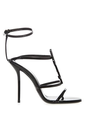 BLACK CASSANDRA PATENT LEATHER SANDALS FW 2019 SAINT LAURENT | 87 | 5358150NPVV1000