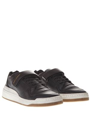 SNEAKERS SL24 IN PELLE NERA EFFETTO VINTAGE AI 2019 SAINT LAURENT | 55 | 55762404L101000