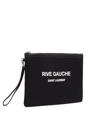 BLACK CANVAS RIVE GAUCHE CLUTCH FW 2019 SAINT LAURENT | 5 | 56572296NAE1070