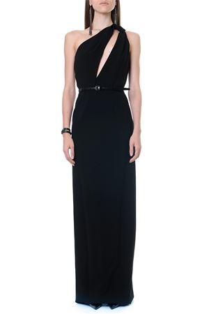 SABLÉ ONE SHOULDER BLACK COLOR LONG DRESS FW 2019 SAINT LAURENT | 32 | 573545Y012W1000