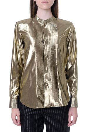 GOLD METALLIC EFFECT SHIRT FW 2019 SAINT LAURENT | 9 | 575010Y334V8000