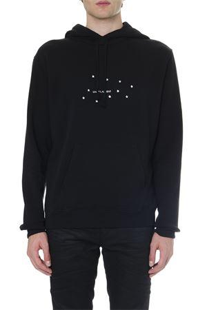 BLACK COTTON SWEATSHIRT WITH LOGO AND STARS PRINT FW 2019 SAINT LAURENT | 15 | 577092YBJH21081