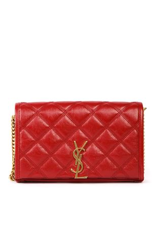 BECKY RED QUILTED LEATHER WALLET FW 2019 SAINT LAURENT | 34 | 5850311D3196805