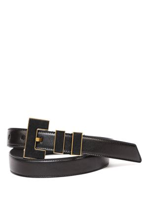 CARRE RIVE GAUCHE DOUBLE-LOOP BELT IN SMOOTH LEATHER fw 2019 SAINT LAURENT | 12 | 5862170IHVW1000