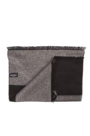 BLACK AND GREY GANCINI SCARF IN SILK AND CACHEMIRE FW 2019 SALVATORE FERRAGAMO | 5 | 5275950718365007