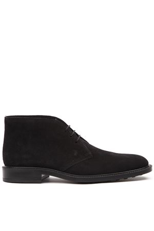 BLACK SUEDE LACED SHOES FW 2019 TOD