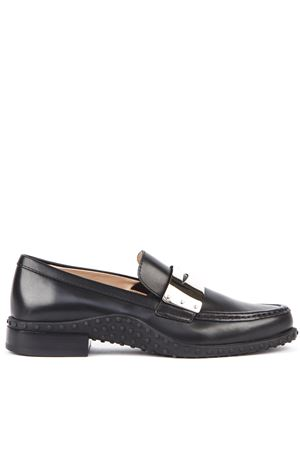 BLACK LEATHER GOMMINO SLIP ON LOAFERS FW 2019 TOD