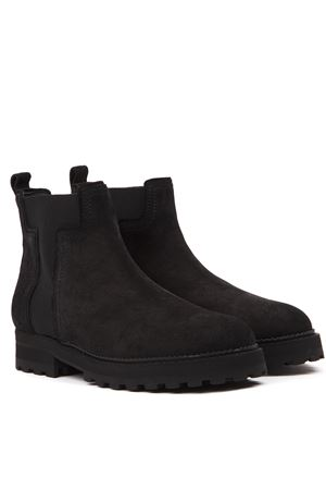 BLACK SUEDE ANKLE BOOTS FW 2019 TOD