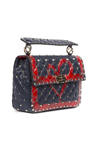 BLUE AND RED SPIKE LEATHER BAG WITH HEART FW 2019 VALENTINO GARAVANI | 2 | SW2B0122NZWM30