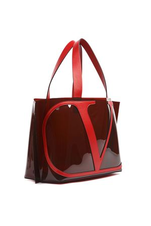 RED  PVC AND LEATHER SHOPPER BAG WITH LOGO FW 2019 VALENTINO GARAVANI | 2 | SW2B0E70RBNIT0