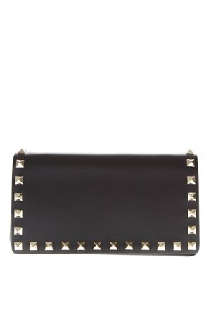 BLACK LEATHER STUDS CLUTCH FW 2019 VALENTINO GARAVANI | 2 | SW2P0372BOL0NO
