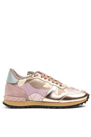 SNEAKER CAMOUFLAGE IN LEATHER WITH METAL DETAILS AI 2019 VALENTINO GARAVANI | 55 | SW2S0291NFJJA0