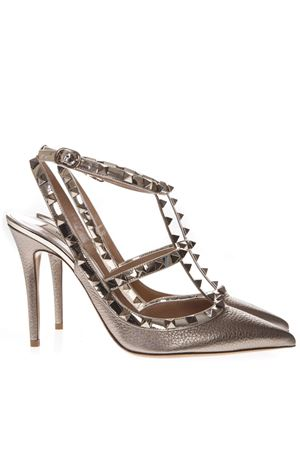 ROCKSTUD BRONZE METALLIC LEATHER PUMPS FW 2019 VALENTINO GARAVANI | 68 | SW2S0393NNFS69