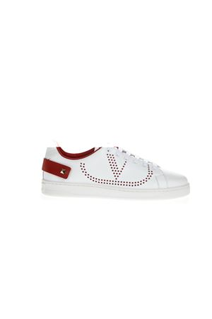 RED & WHITE BACKNET LEATHER SNEAKER FW 2019 VALENTINO GARAVANI | 55 | SW2S0M20DYHDS5