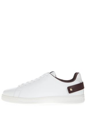 WHITE & BROWN VLOGO LEATHER SNEAKER SS19 VALENTINO GARAVANI | 55 | SY2S0C04DYHR67