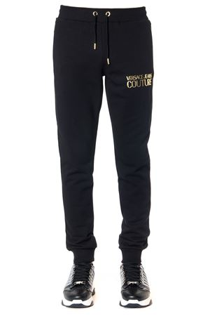 BLACK COTTON PANTS WITH GOLD LOGO FW 2019 VERSACE JEANS | 8 | A1.HUB107.30220UNI899
