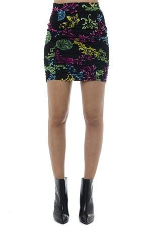 BLACK SKIRT WITH MULTICOLOR BAROQUE SKIRT FW 2019 VERSACE JEANS   26   A9.HUB307.S0608UNI899