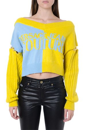 CROPPED COLOR BLOCK TOP FW 2019 VERSACE JEANS | 16 | B4.HUA804.50296UNILS7