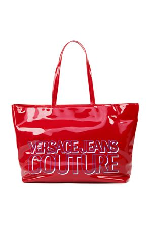 RED PATENT TOTE WITH VERSACE JEANS COUTURE LOGO FW 2019 VERSACE JEANS | 2 | E1.VUBB20.71288UNI500