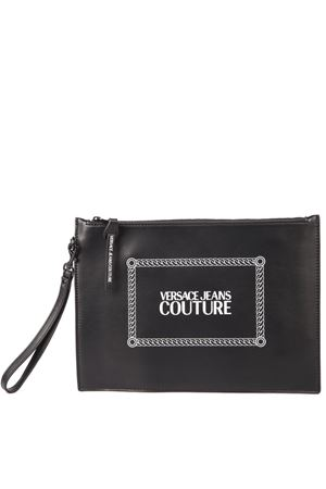 BLACK FAUX LEATHER PRINT PURSE FW 2019 VERSACE JEANS | 180000087 | E3.YUBP10.40332UNIM19