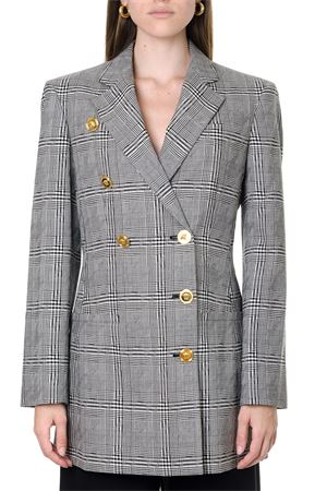 DOUBLE-BREASTED GREY TWEED BLAZER FW 2019 VERSACE | 14 | A84138A216676A6008