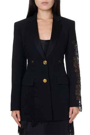 BLACK LACE & VISCOSE SINGLE BREAST JACKET FW 2019 VERSACE | 14 | A84448A212457A1008