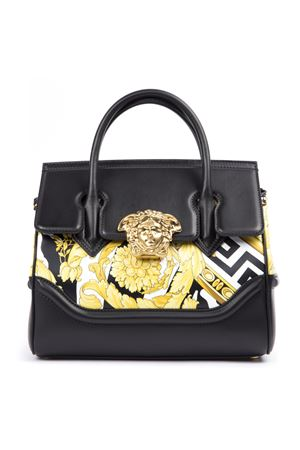 BLACK ICON LEATHER BAROQUE DESIGN HAND BAG FW 2019 VERSACE | 2 | DBFF452DV4WGDNOBT