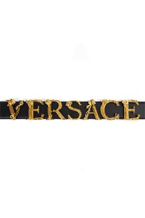 BLACK & GOLD METAL & LEATHER BELT FW 2019 VERSACE | 12 | DCDH129DV3TK41OT