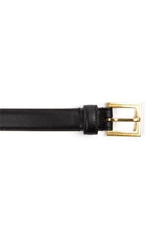 BLACK & GOLD METAL & LEATHER BAROQUE LOGO BELT FW 2019 VERSACE | 12 | DCDH130DV3TK41OT