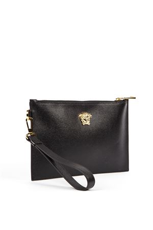 BLACK LEATHER MEDUSA PURSE FW 2019 VERSACE | 74 | DP84725DCASPD41OH
