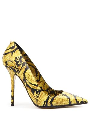 BLACK & GOLD LEATHER BAROQUE PUMPS FW 2019 VERSACE | 68 | DST021PDVTB9D4DOH