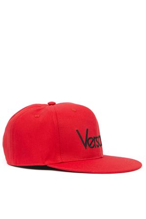 RED AND BLACK COTTON BASEBALL CAP FW 2019 VERSACE | 17 | ICAP016IT02466I478