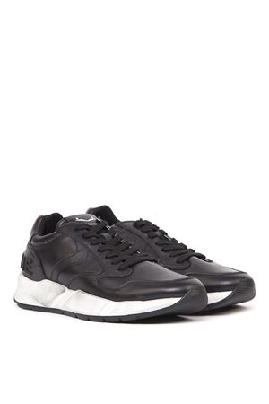 ARPOLH USED EFFECT BLACK LEATHER SNEAKERS FW 2019 VOILE BLANCHE | 55 | ARPOLH001-2014225-01NERO