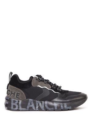 BLACK LEATHER & CORDURA SNEAKERS FW 2019 VOILE BLANCHE | 55 | CLUB02001-2014396-01NERO-ANTRACITE