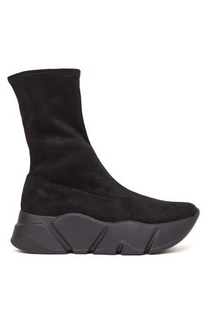 BLACK MONSTER MID TECNO SUEDE ANKLE BOOT FW 2019 VOILE BLANCHE | 52 | MONSTER MID TECNO001-3001384-01NERO