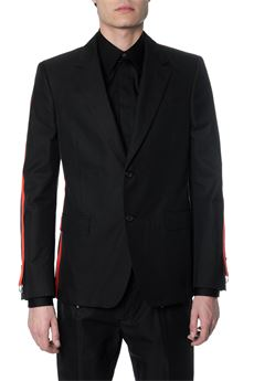 BLACK COTTON BLAZER WITH SIDE STRIPES SS 2020 ALEXANDER McQUEEN | 14 | 594921QOS441000