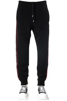 BLACK JOGGING PANTS IN CRÊPE WITH LOGO STRIPES SS 2020 ALEXANDER McQUEEN | 8 | 595646QOR391000