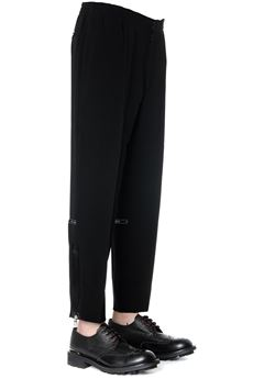 BLACK COTTON CROPPED TAILORED PANTS  SS 2020 ALEXANDER McQUEEN | 8 | 598984QOR381000